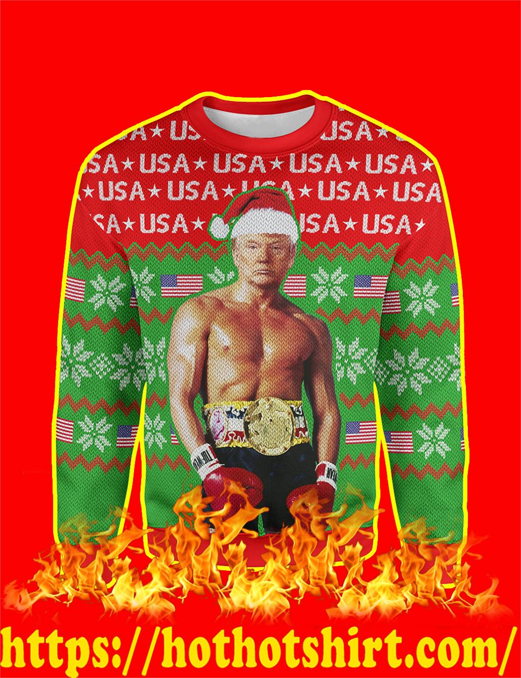 Trump Rocky Christmas Sweater - S