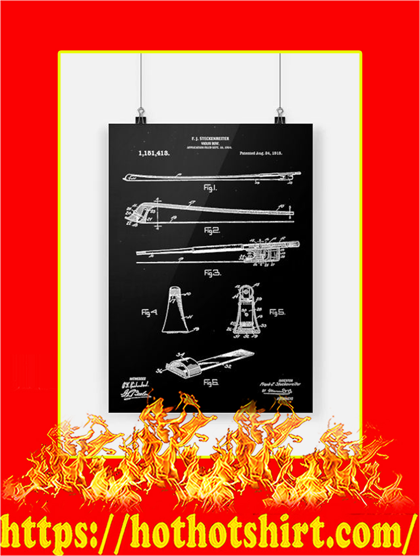 Violin Bow Poster - A2