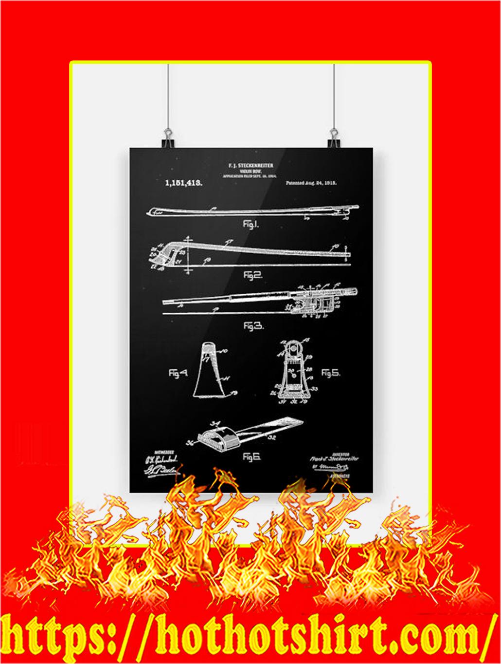Violin Bow Poster - A3