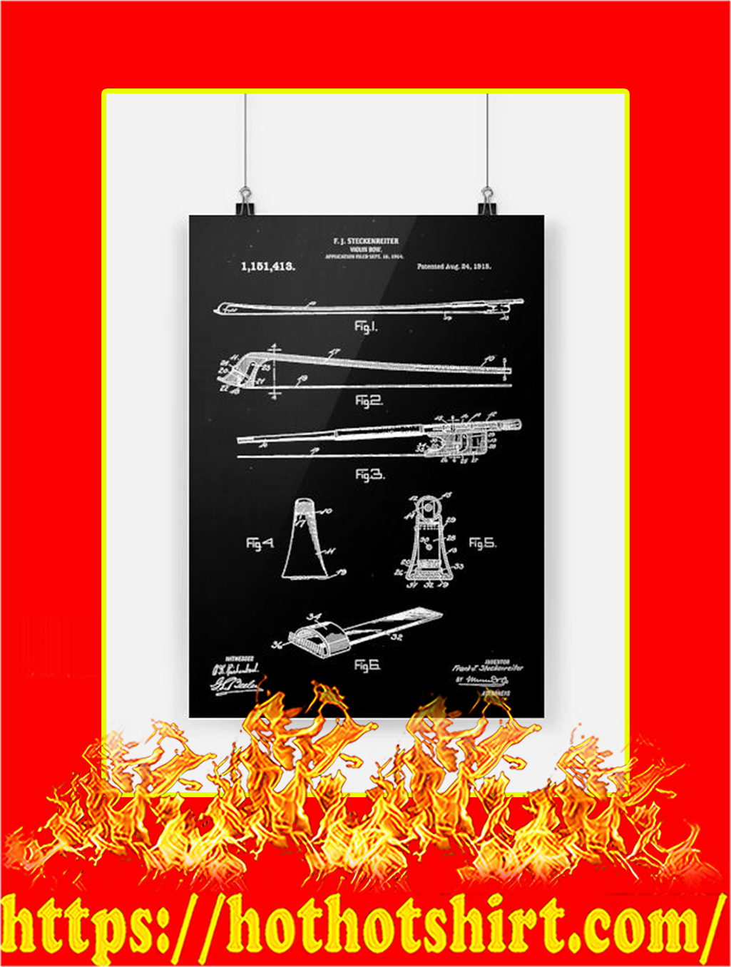 Violin Bow Poster - A4