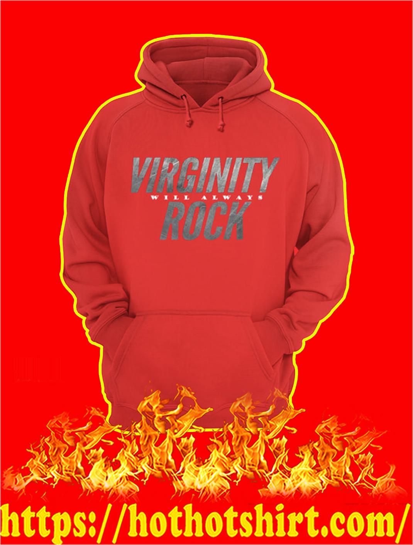 Virginity Will Always Rock Hoodie- red