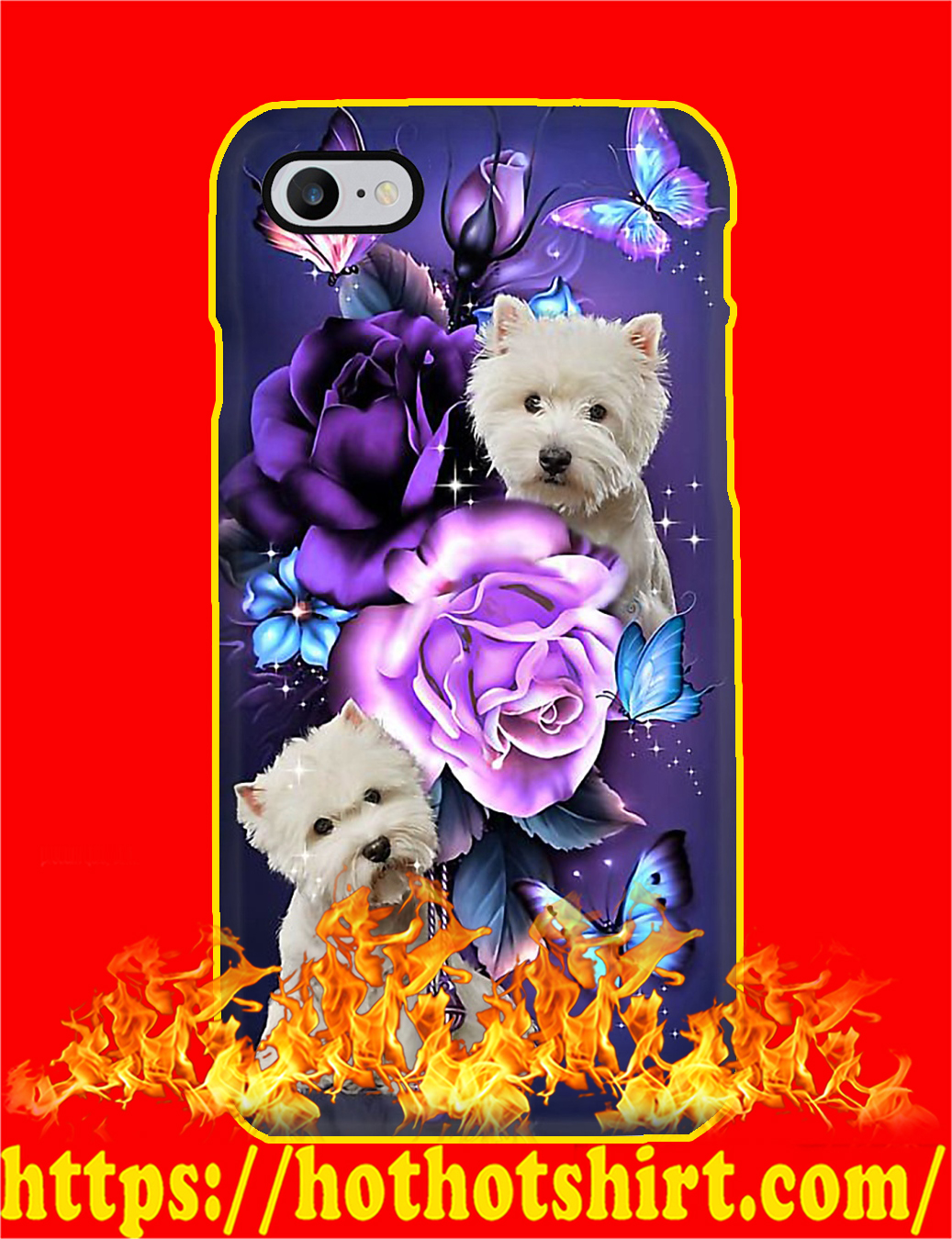 West Highland Terrier Butterfly Phone Case- iphone 8
