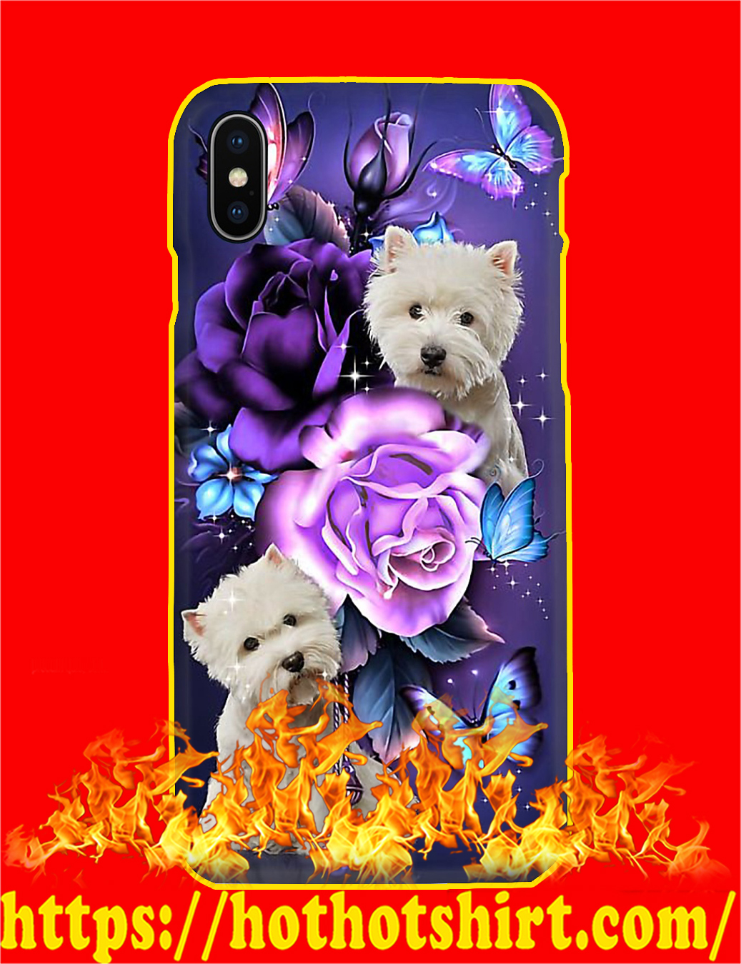 West Highland Terrier Butterfly Phone Case- iphone X