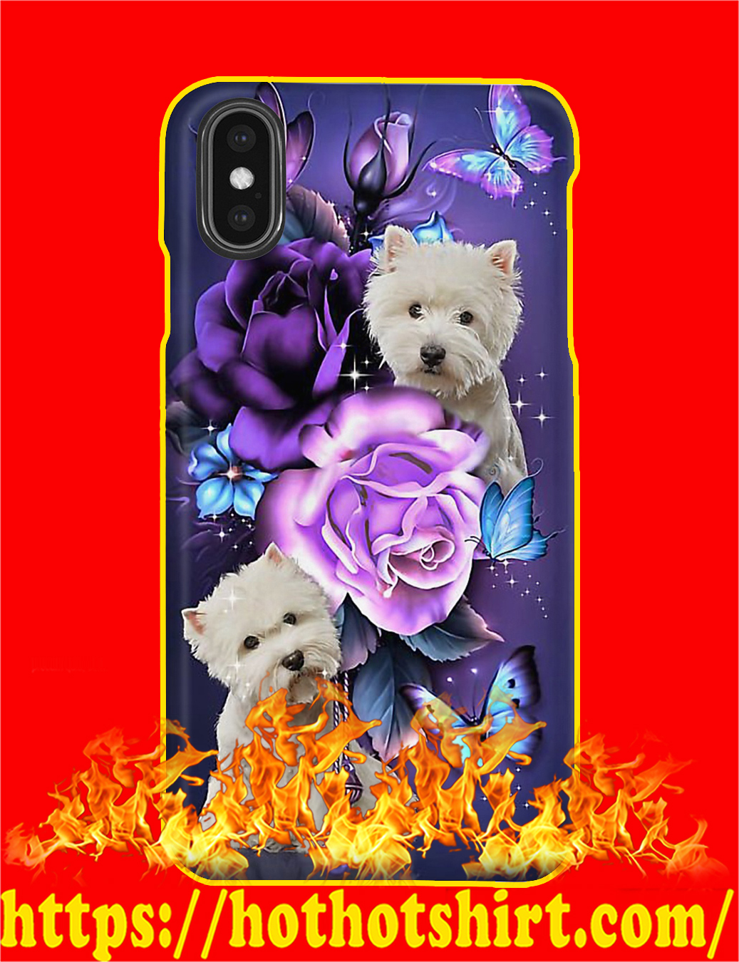 West Highland Terrier Butterfly Phone Case- iphone XS Max