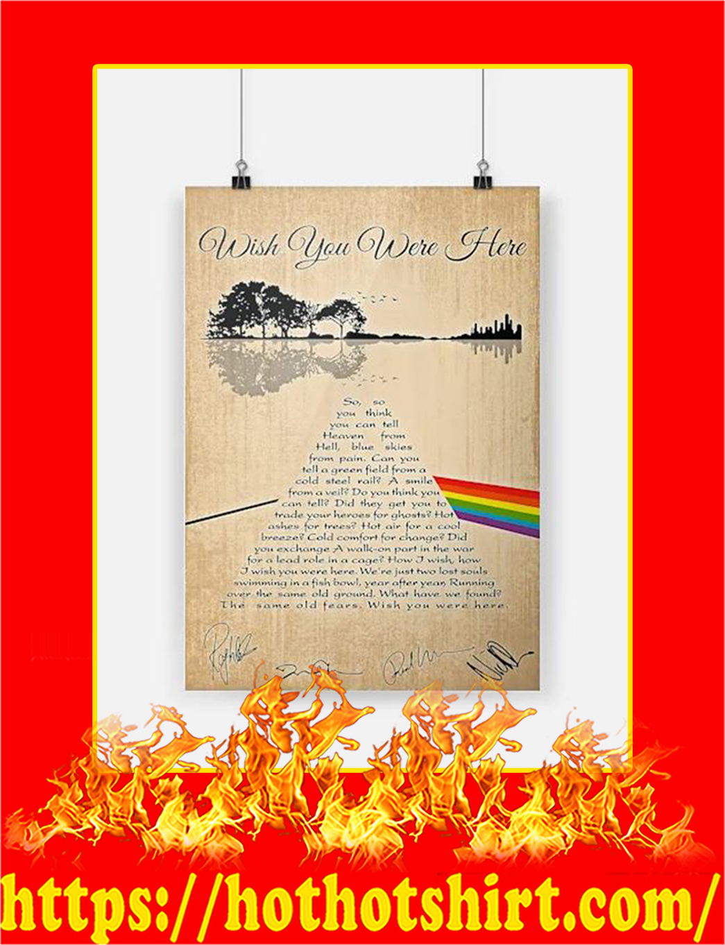 Wish You Were Here Poster - A2