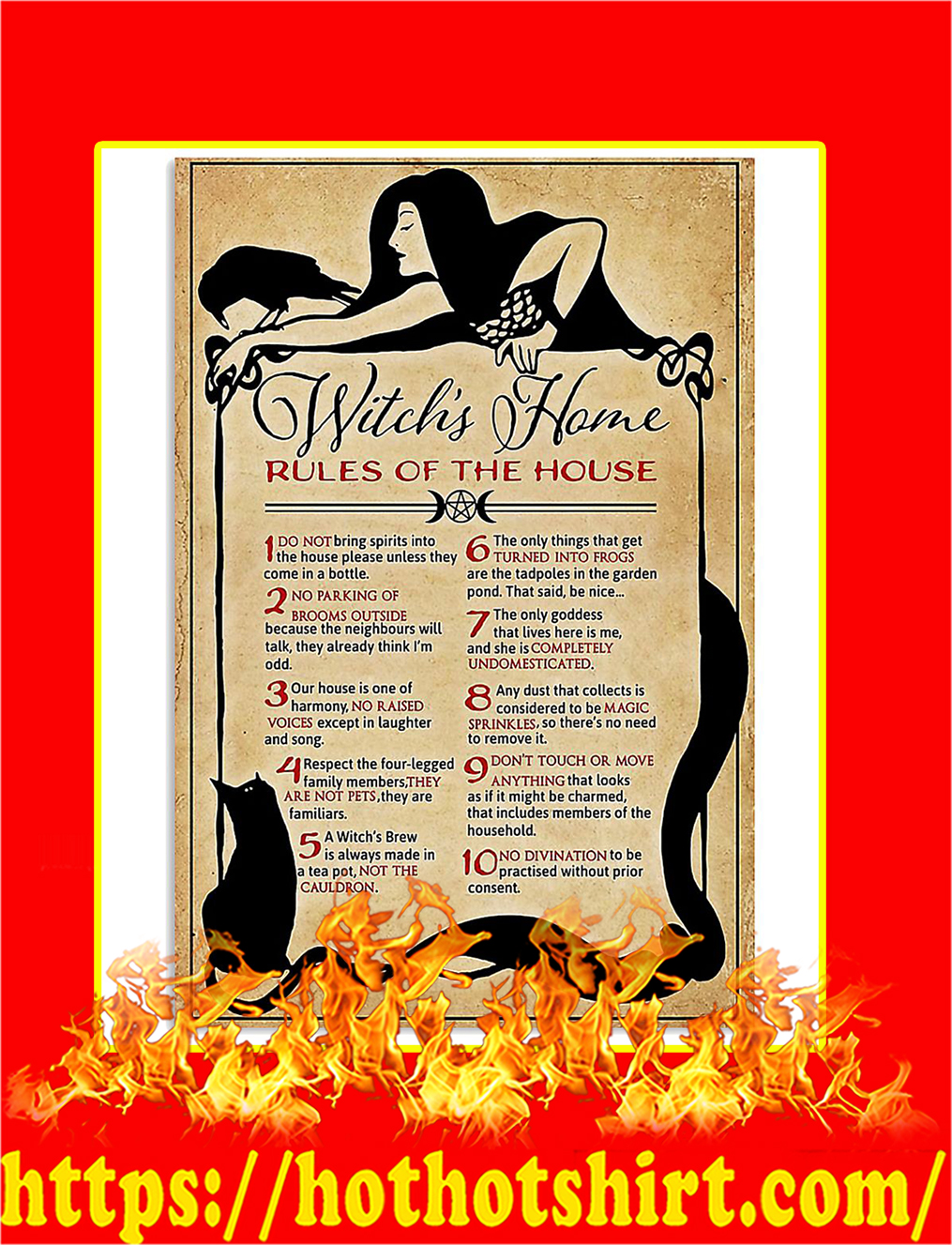 Witch's Home Rules Of The House PosterWitch's Home Rules Of The House Poster