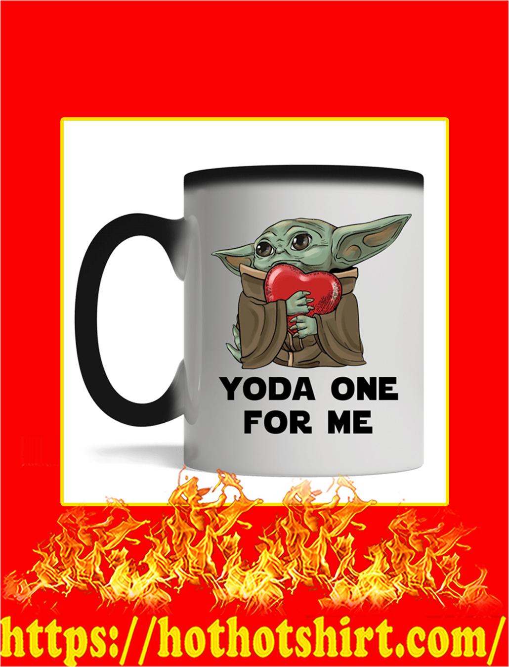 Yoda Hug Heart Yoda One For Me Mug- magic mug