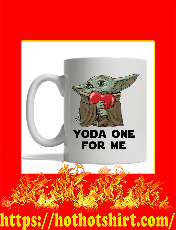 Yoda Hug Heart Yoda One For Me Mug- white mug