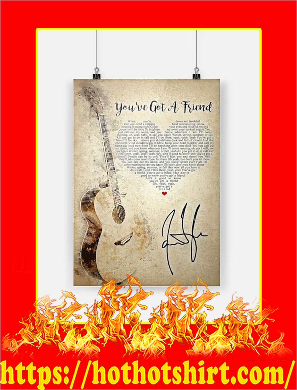 You've Got A Friend Poster - A3