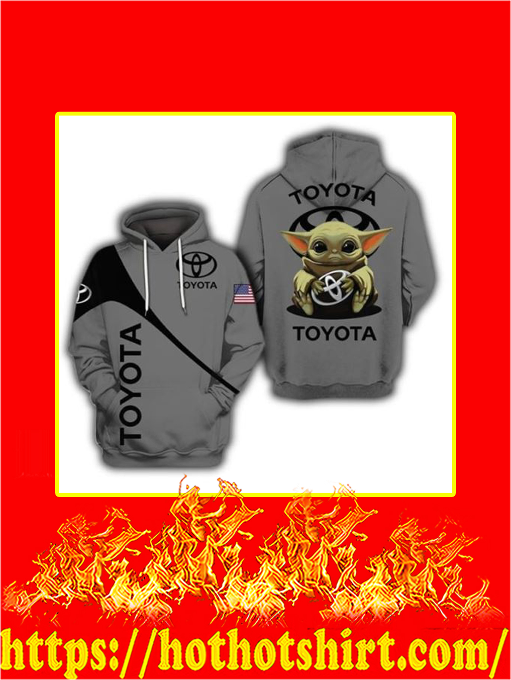 3D Baby Yoda Toyota Hoodie