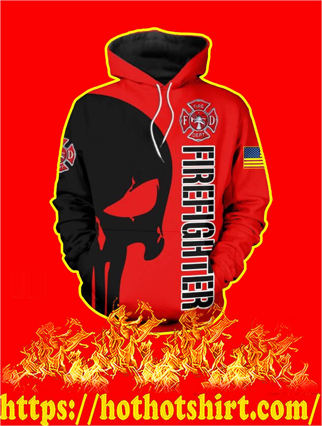 3D Printed Firefighter Punisher Skull Hoodie