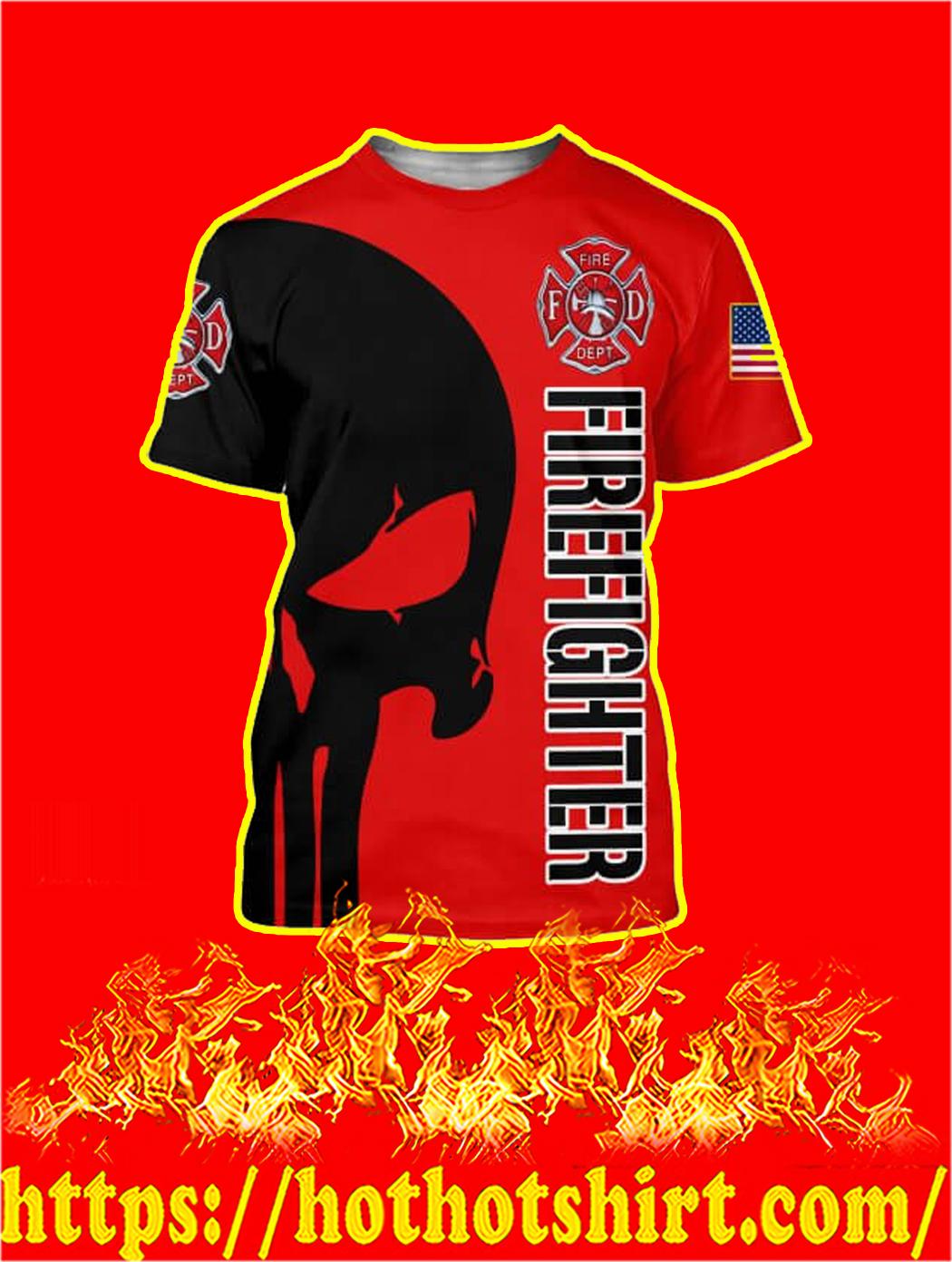 FDNY Hoodie Screen Print Fire Dept Sweatshirt Red