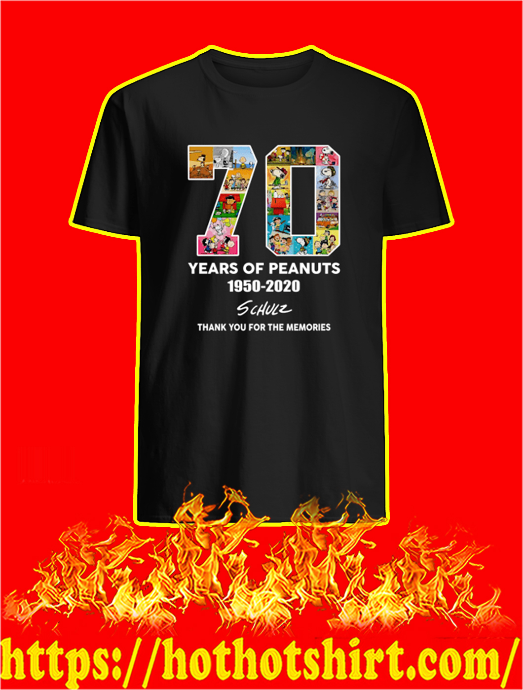 70 Years Of Peanuts 1950 2020 shirt