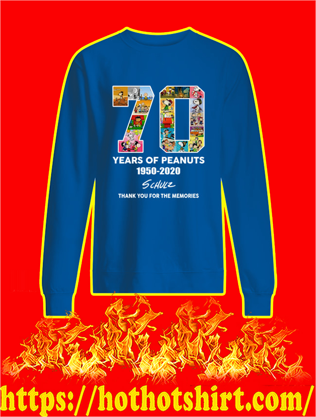 70 Years Of Peanuts 1950 2020 sweatshirt