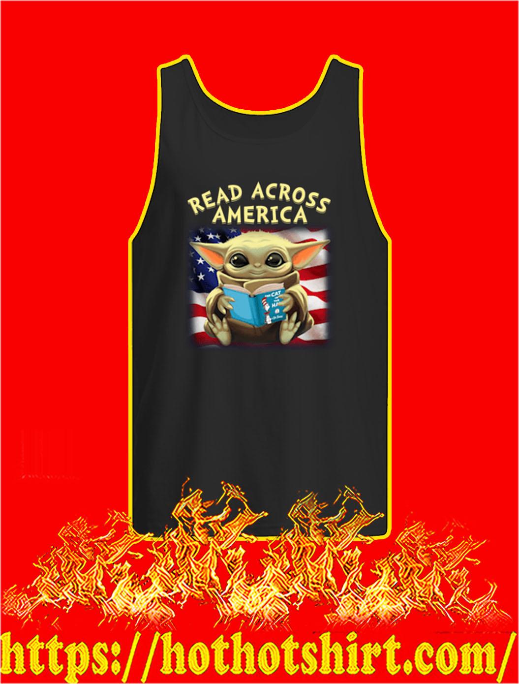 Baby Yoda Read Across America tank top