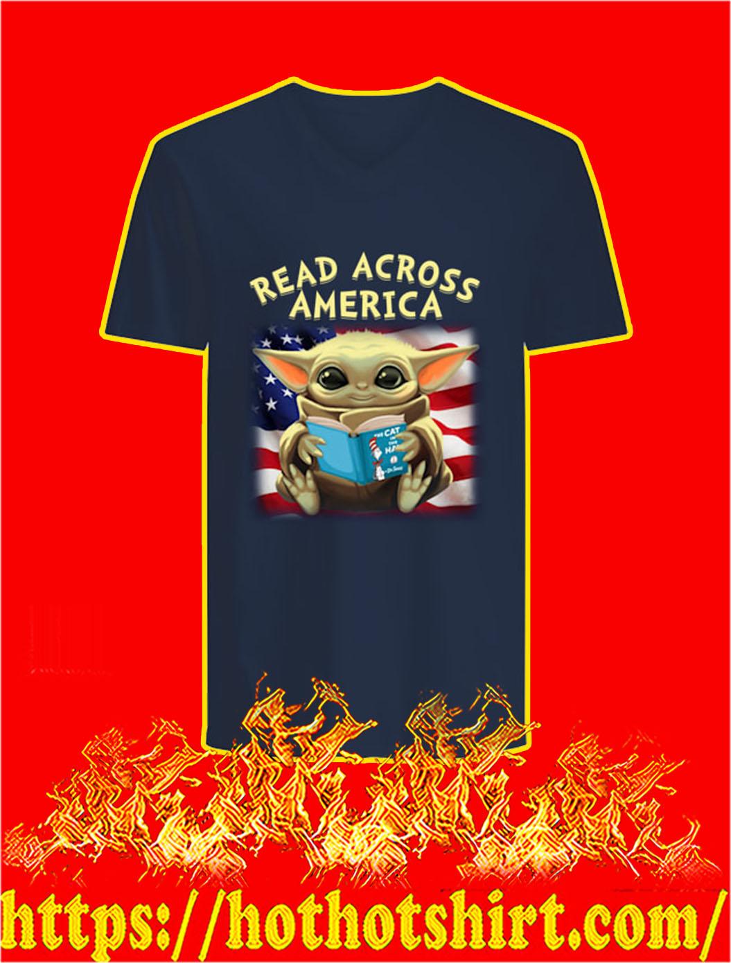 Baby Yoda Read Across America v-neck