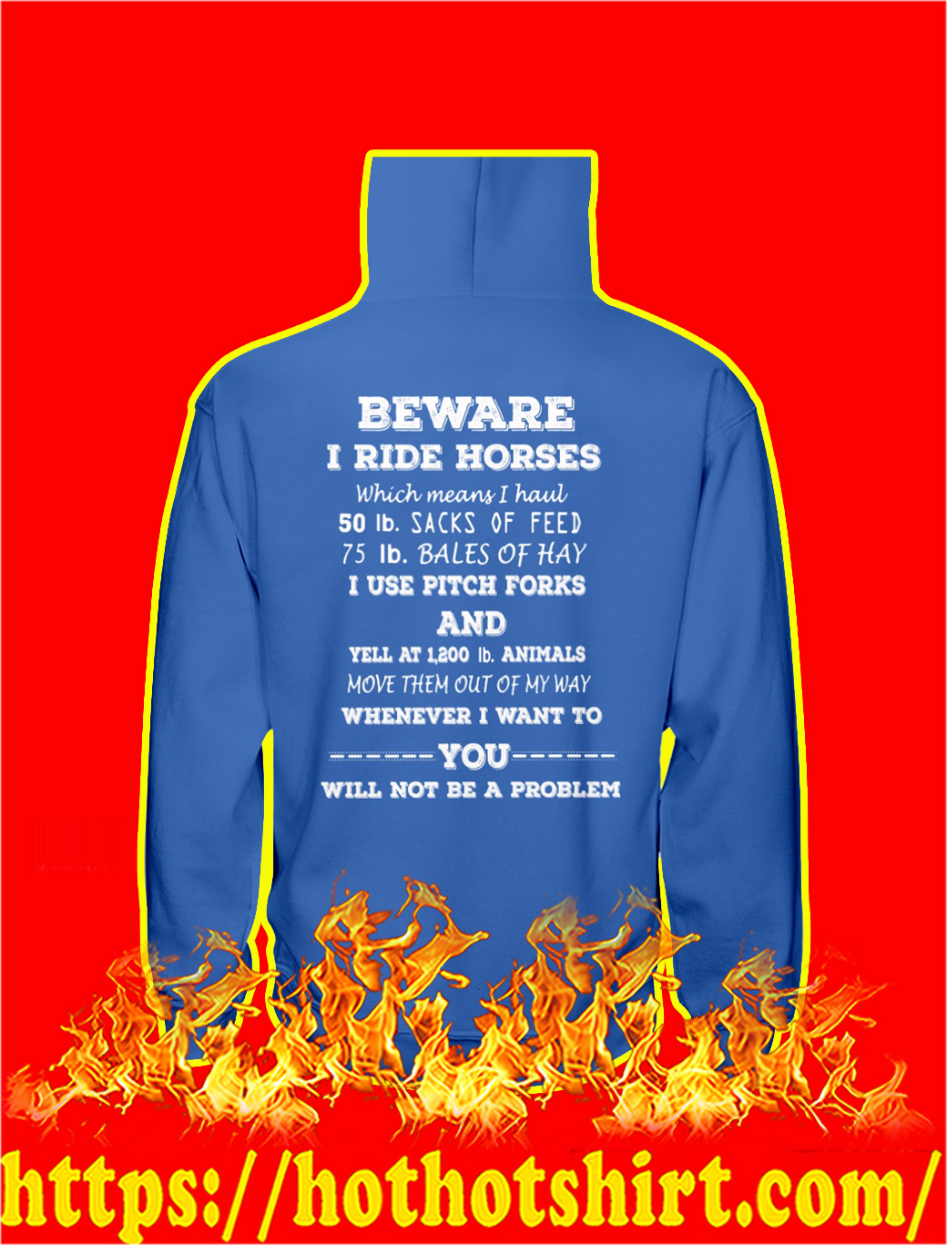 Beware I Ride Horses Which Means I Haul hoodie