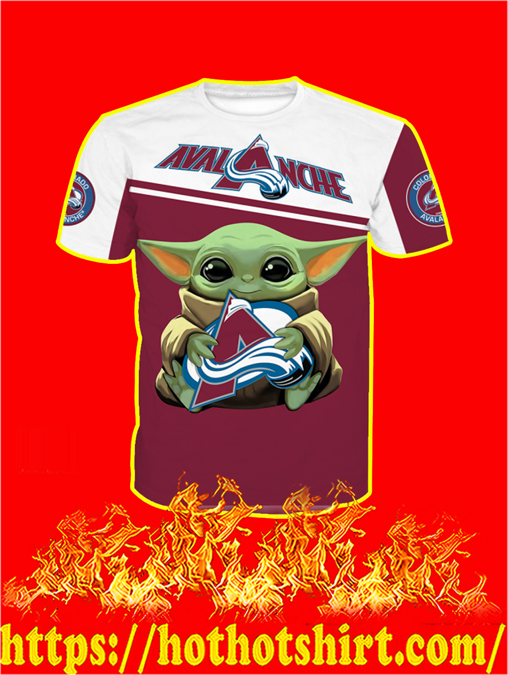 Colorado Avalanche Baby Yoda All Over Print T-shirt