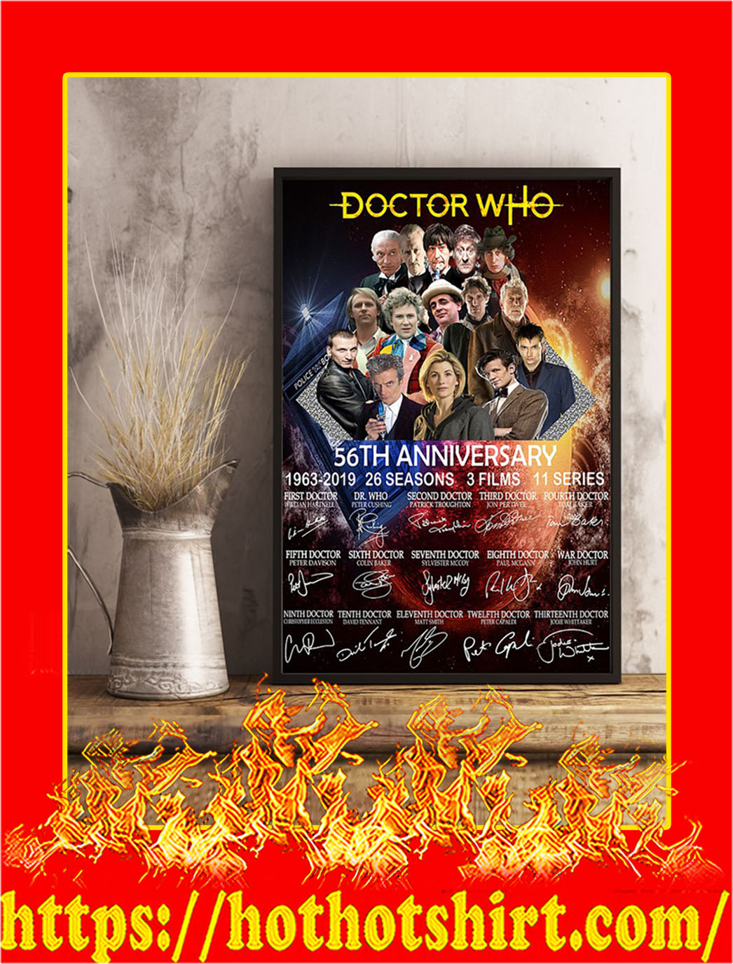 Doctor Who 56th Anniversary Poster- A2