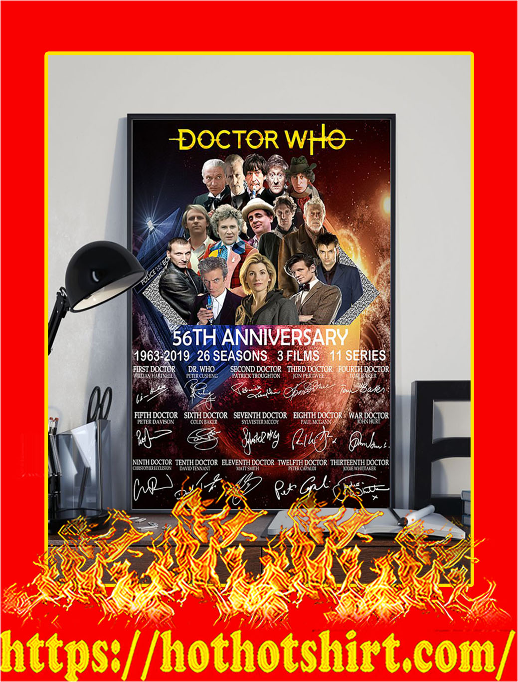 Doctor Who 56th Anniversary Poster- A3