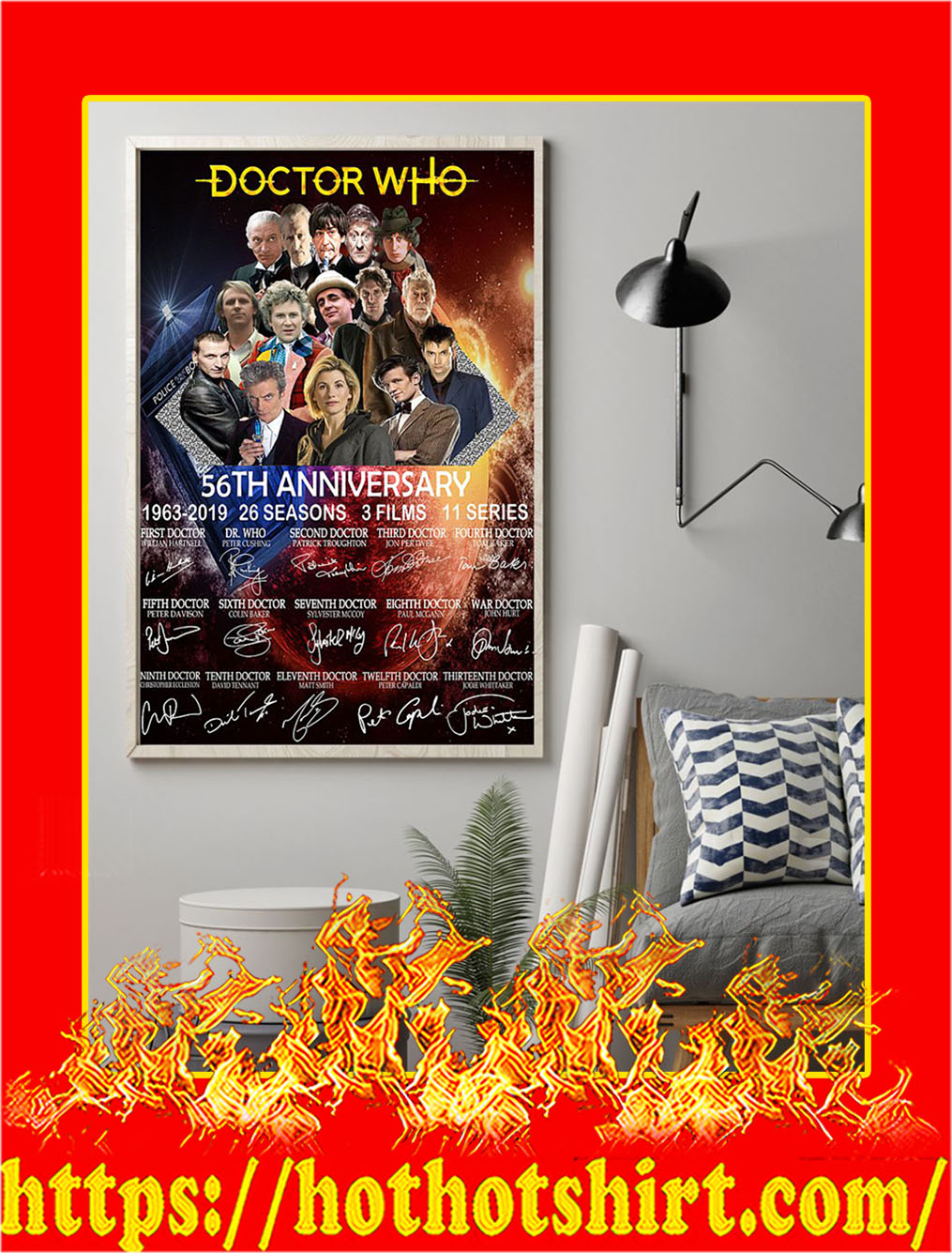 Doctor Who 56th Anniversary Poster- A4