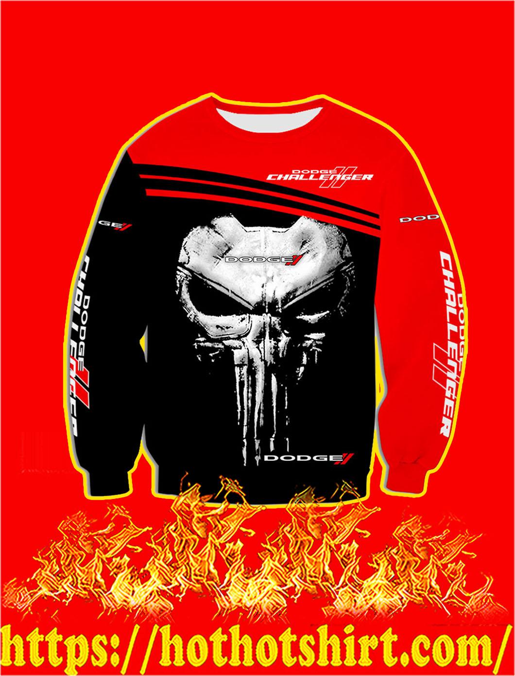 Dodge Challenger Punisher Skull 3D Sweatshirt