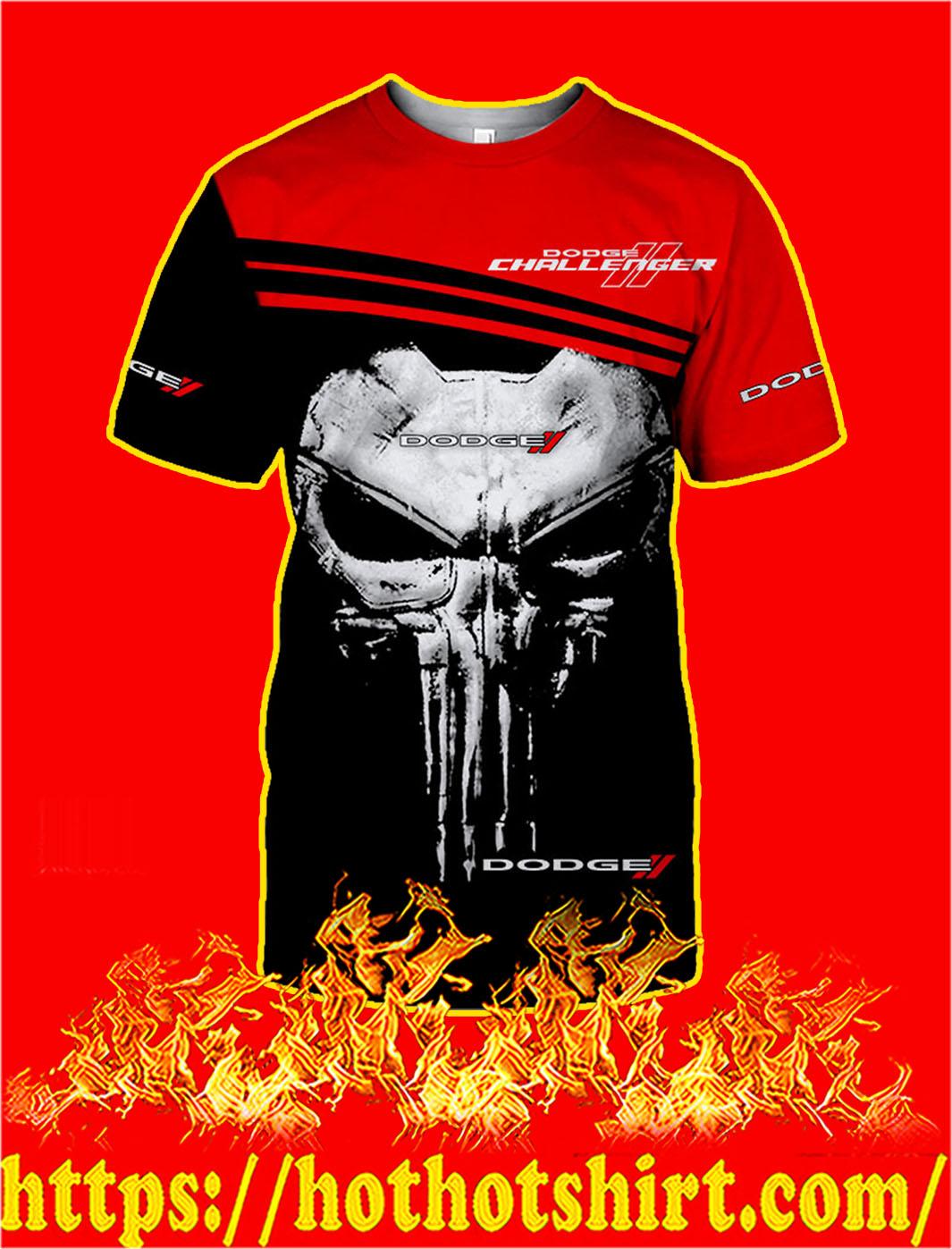 Dodge Challenger Punisher Skull 3D T-shirt