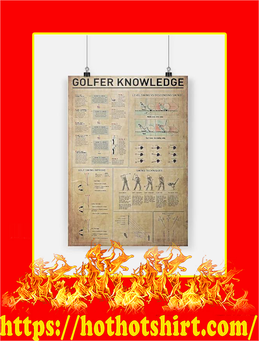Golfer Knowledge Poster - A4