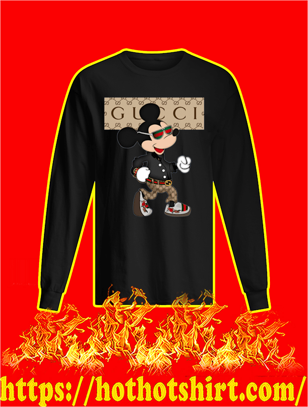 Gucci Mickey Mouse Long Sleeved T-shirt