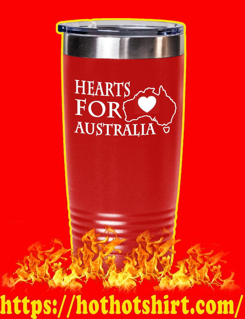 Hearts For Australia Laser Etched Tumbler 20oz