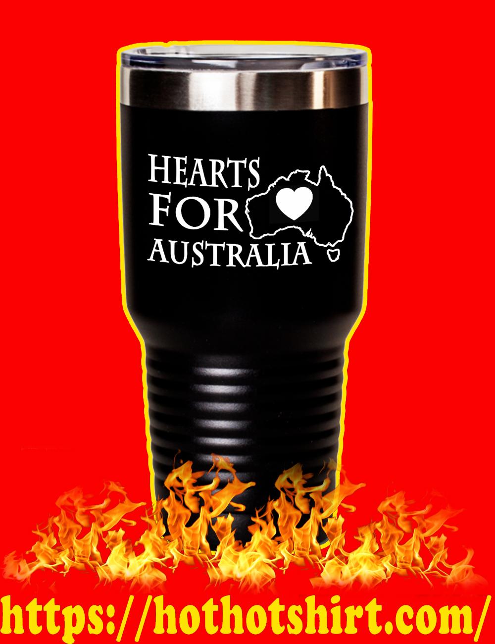 Hearts For Australia Laser Etched Tumbler-black