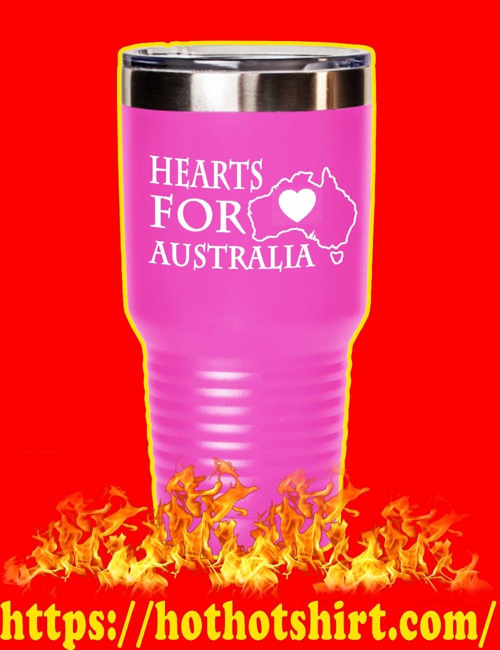 Hearts For Australia Laser Etched Tumbler-pink