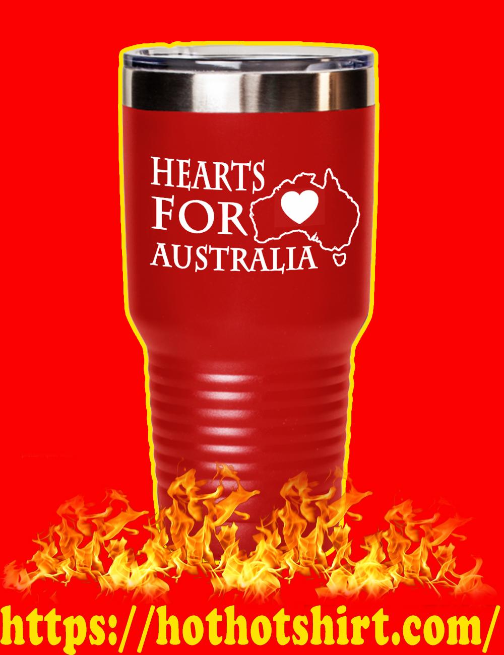 Hearts For Australia Laser Etched Tumbler