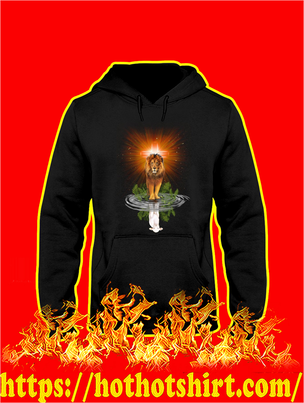 Jesus the Lion Reflection the Lamb hoodie