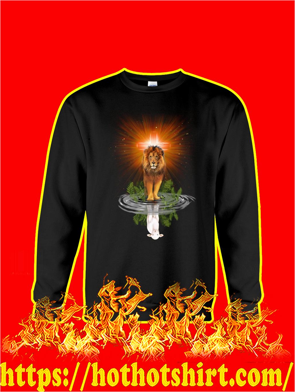 Jesus the Lion Reflection the Lamb sweatshirt