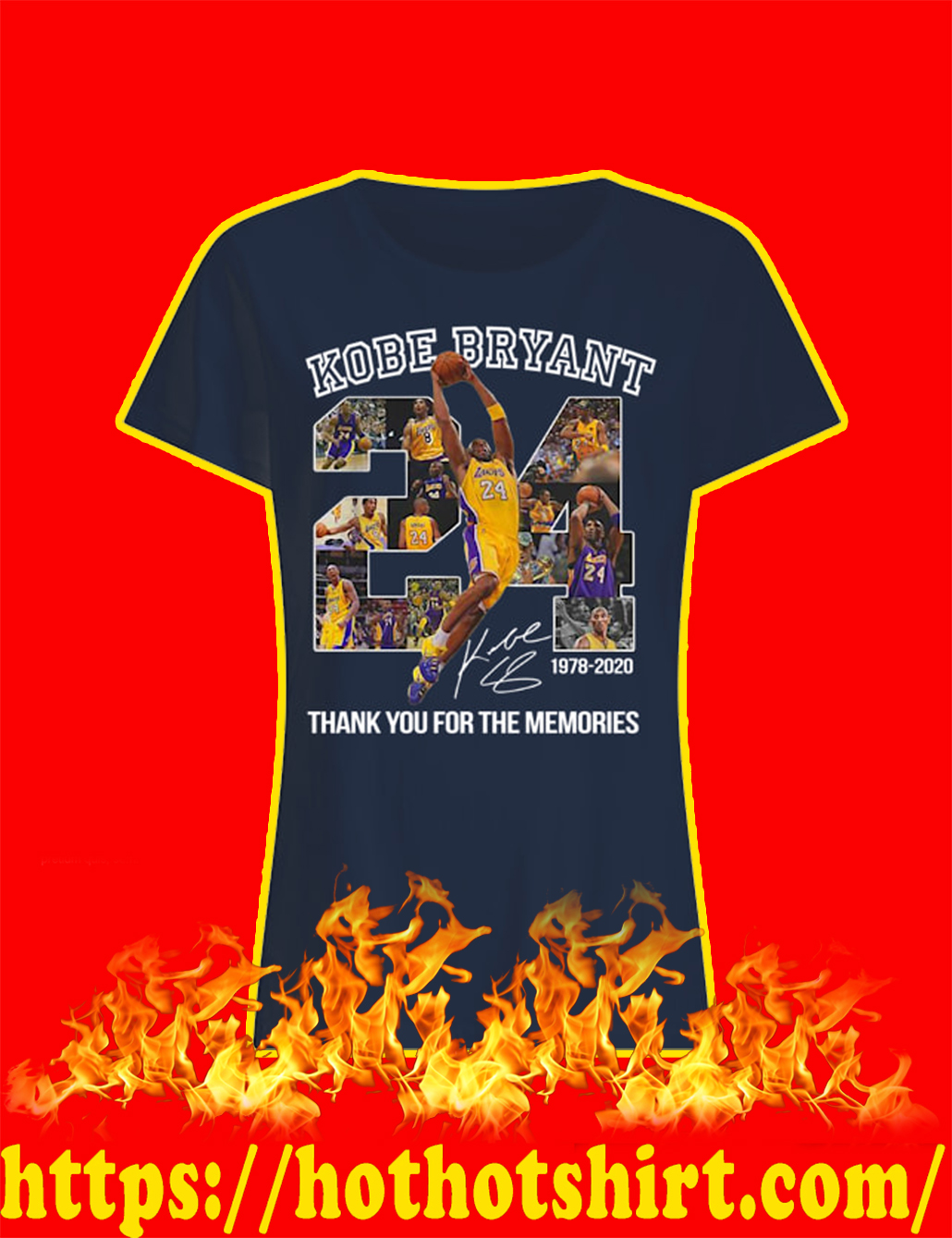 Kobe Bryant Thank You For The Memories 1978 2020 lady shirt