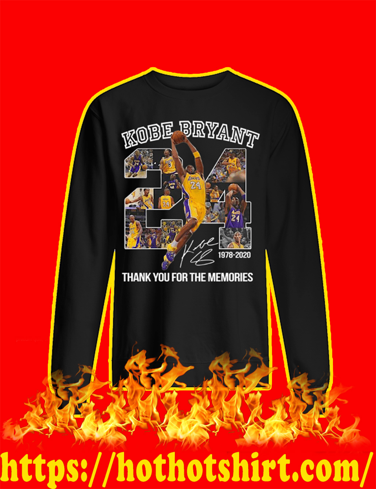 Kobe Bryant Thank You For The Memories sweatshirt
