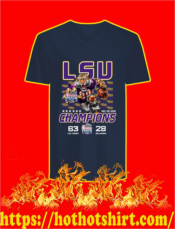 LSU Tigers Champions Chick fil A v-neck