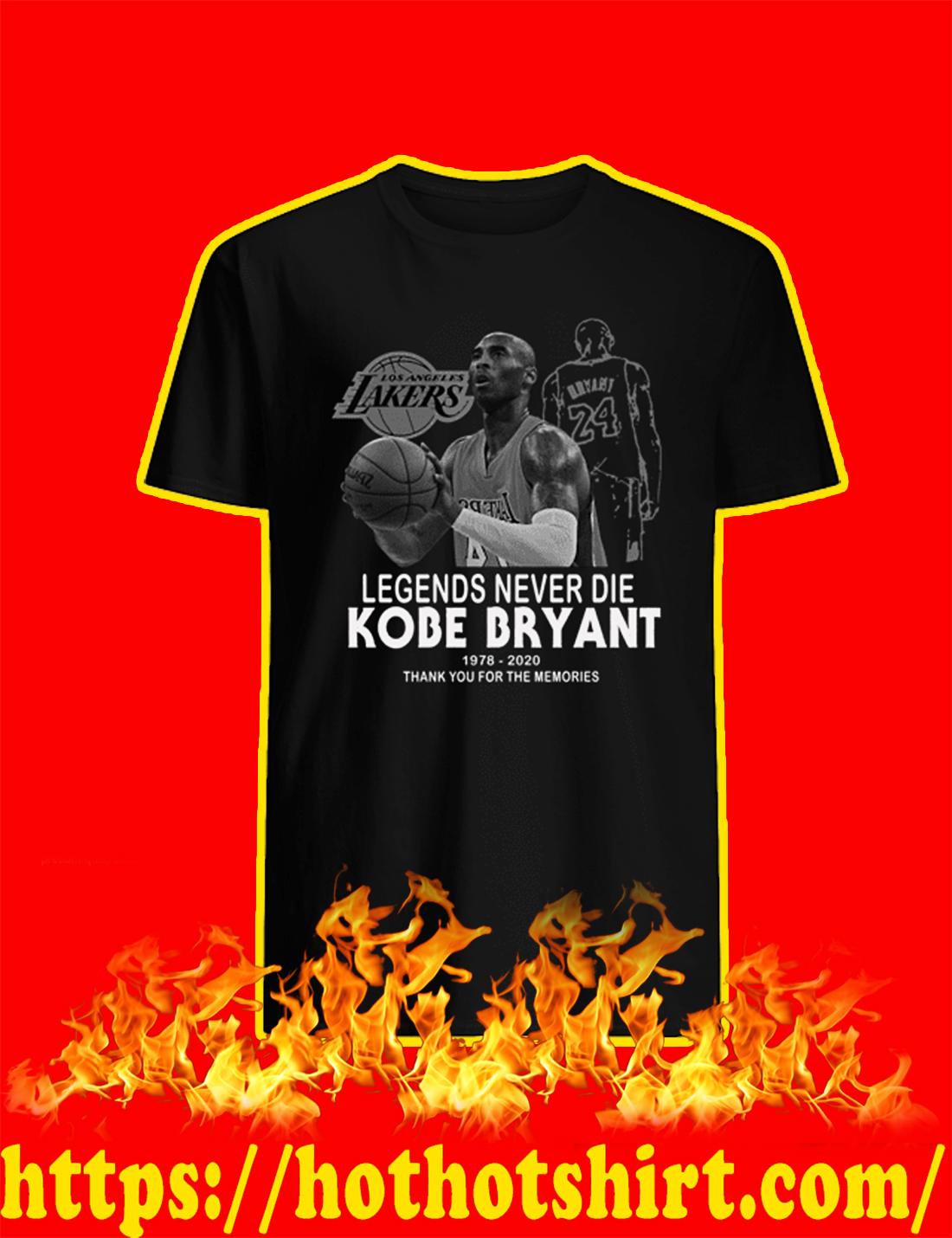 Legends Never Die Kobe Bryant Thank You For The Memories shirt