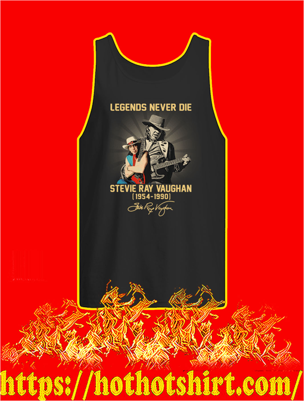 Legends Never Die Stevie Ray Vaughan 1954 1990 tank top