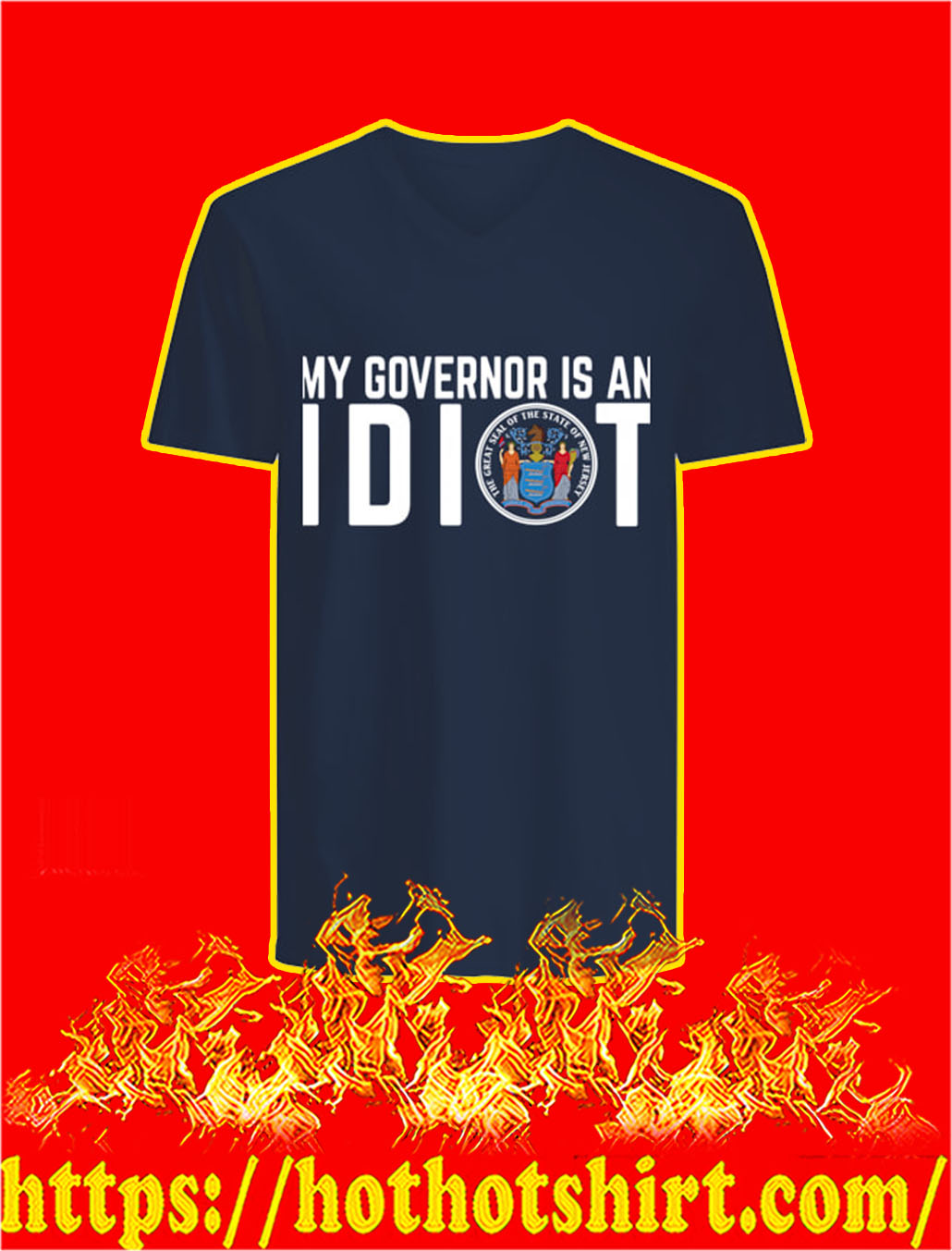 My Governor Is An Idiot v-neck