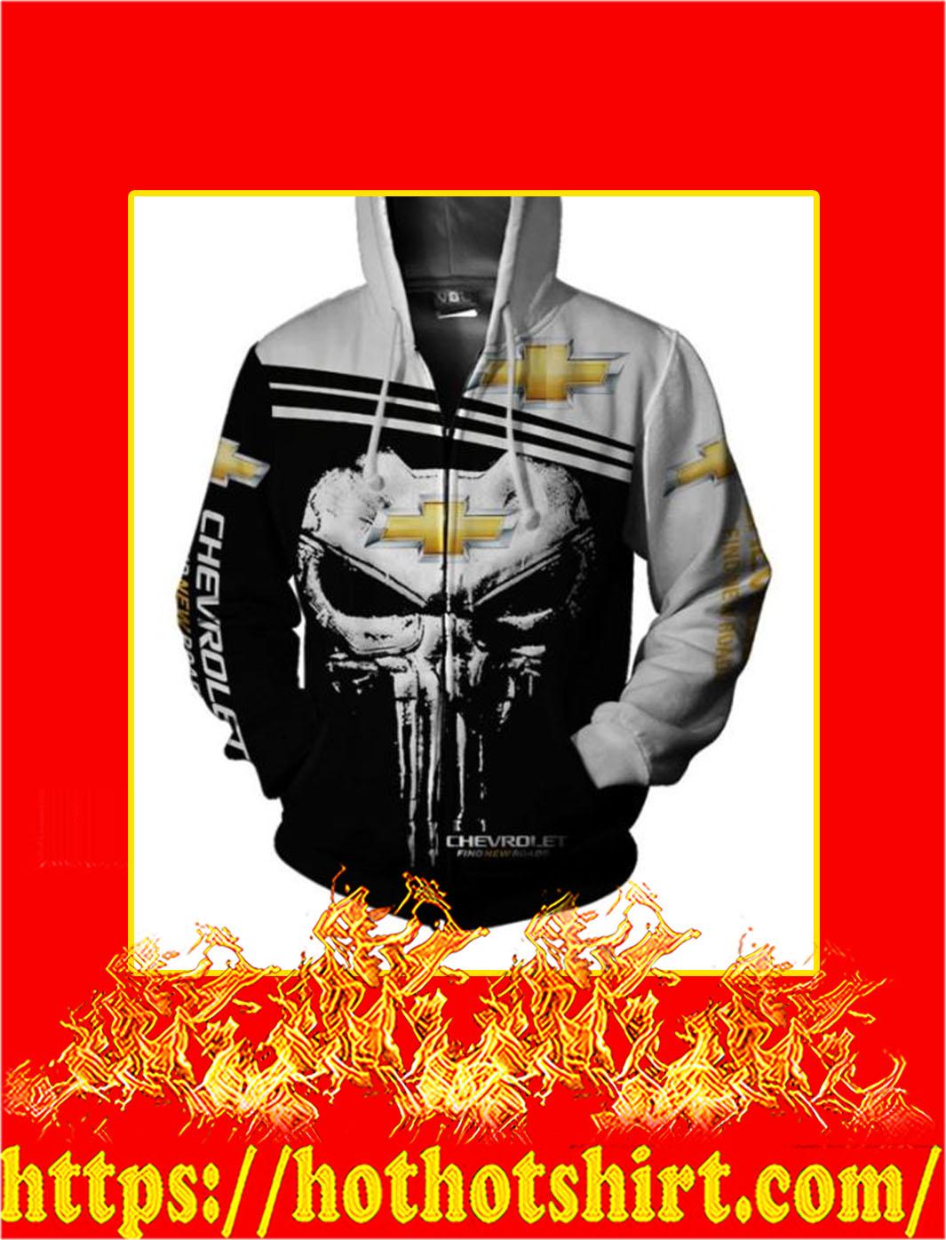 Punisher Skull Chevrolet 3D All Over Print Zip Hoodie