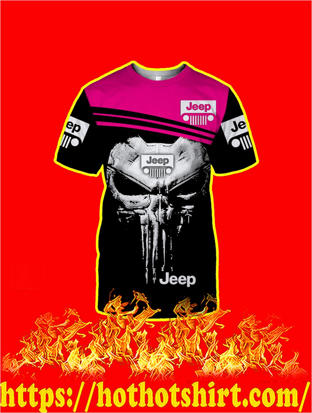 Punisher Skull Jeep 3D T-shirt