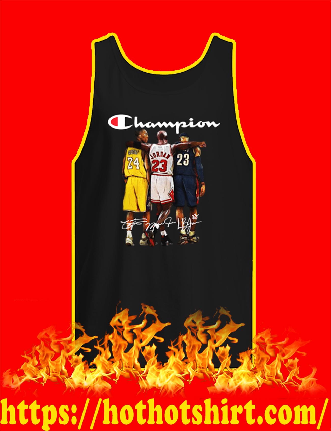 Rip Kobe Bryant Michael Jordan LeBron James Champion Tank top