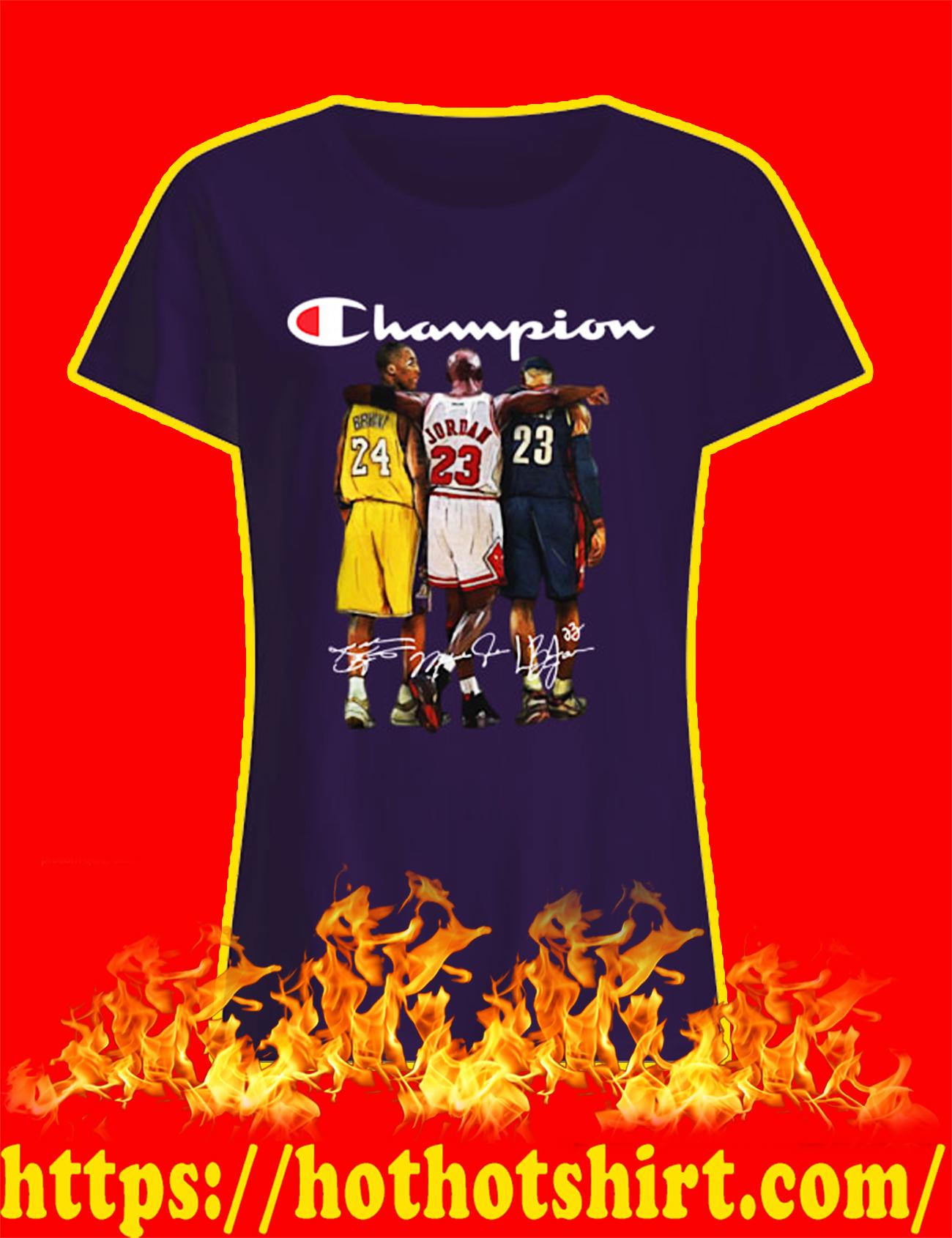 Rip Kobe Bryant Michael Jordan LeBron James Champion lady shirt