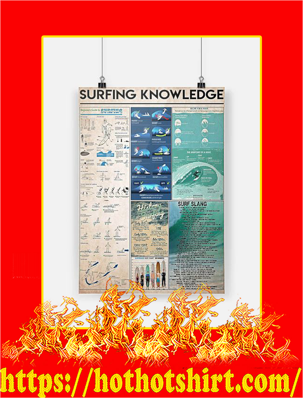 Surfing Knowledge Poster - A3