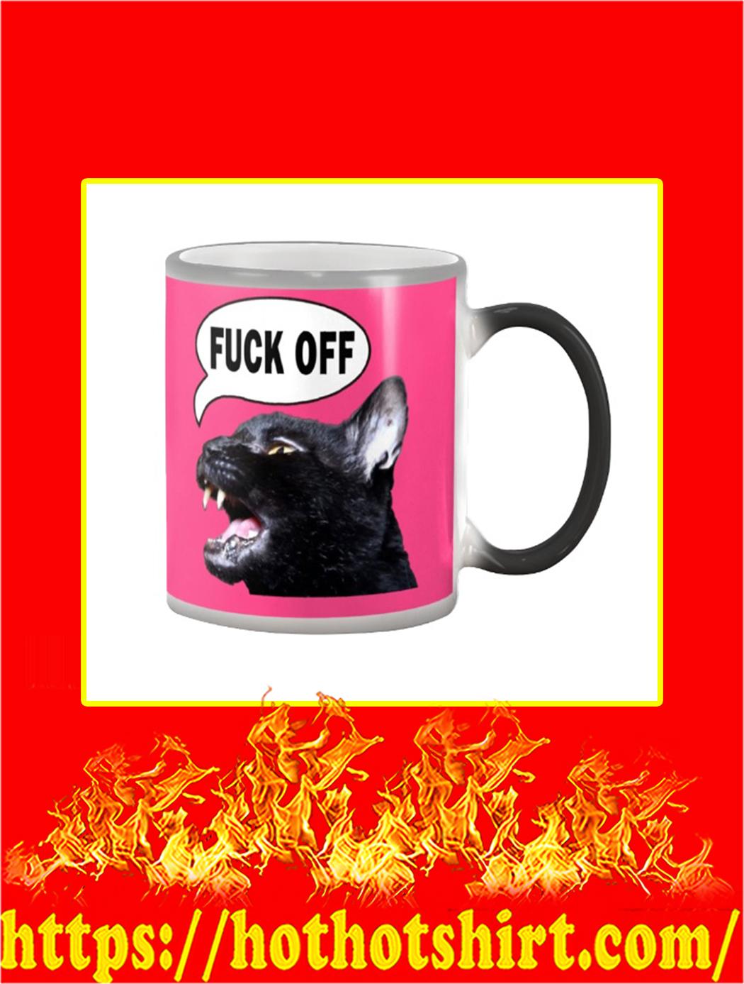 Sylvester Talking Kitty Cat Fuck Off Mug- pink