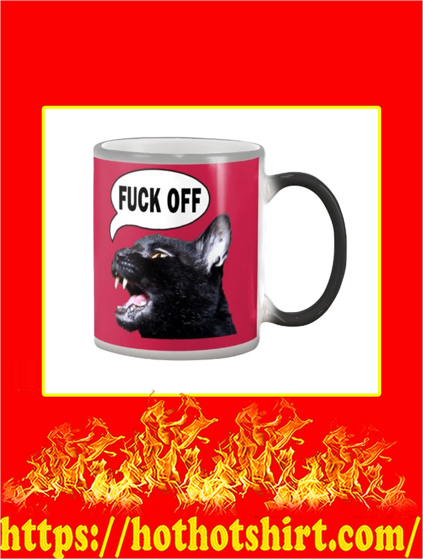 Sylvester Talking Kitty Cat Fuck Off Mug- true red