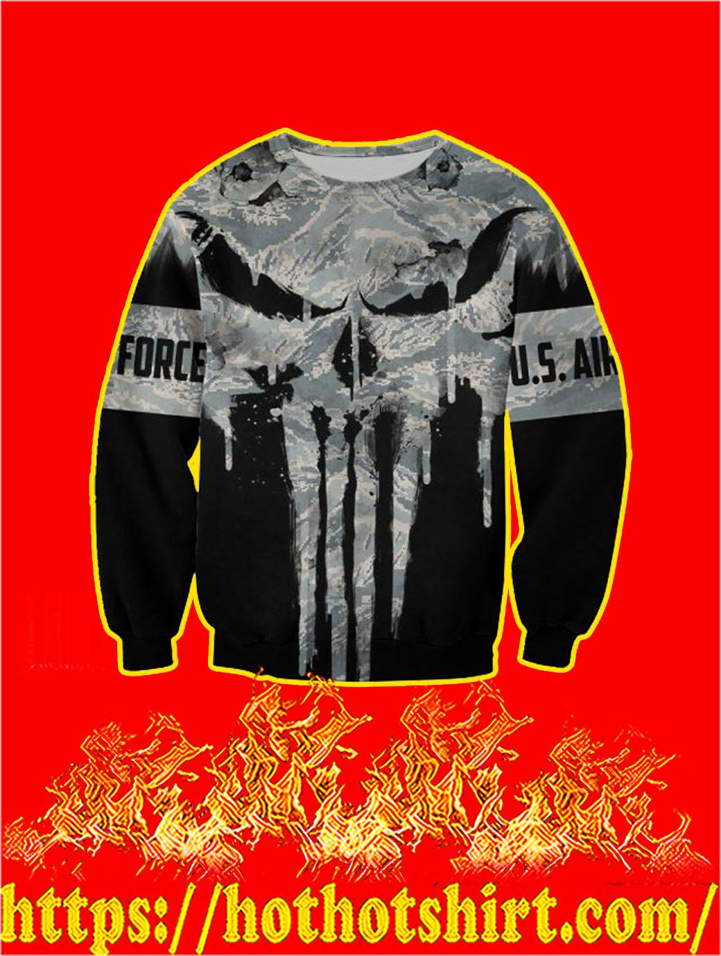 U.S Air Force Punisher Skull 3D Printed Sweatshirt