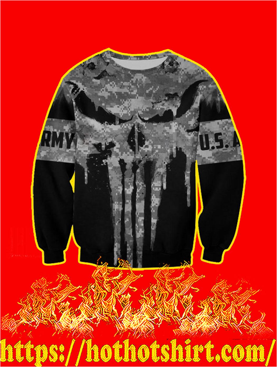 U.S Army Punisher Skull 3D Printed Sweatshirt